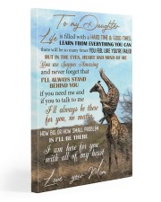 To My Daughter - giraffe 20x30 Gallery Wrapped Canvas Prints front