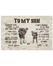 To MY Son Hockey Horizontal Poster tile