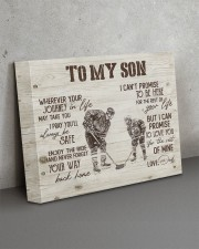 To MY Son Hockey 14x11 Gallery Wrapped Canvas Prints aos-canvas-pgw-14x11-lifestyle-front-15