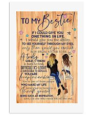 To my bestie v10 16x24 Poster front