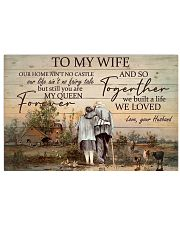 To My Wife Farmer Horizontal Poster tile