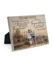 To My Wife Farmer Easel-Back Gallery Wrapped Canvas tile