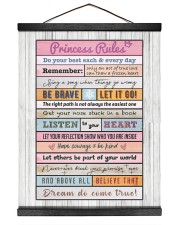Dear daughter from DAD Hanging Canvas tile