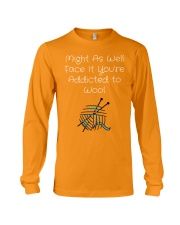 Addicted to Wool Collection for Craft Enthusiasts Long Sleeve Tee thumbnail