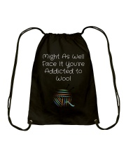 Addicted to Wool Collection for Craft Enthusiasts Drawstring Bag thumbnail