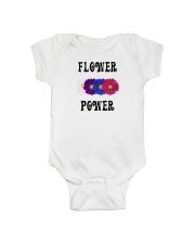 Flower Power Square Design Onesie thumbnail