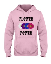 Flower Power Square Design Hooded Sweatshirt thumbnail