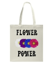 Flower Power Square Design Tote Bag thumbnail