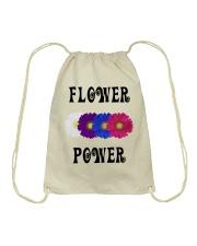 Flower Power Square Design Drawstring Bag thumbnail