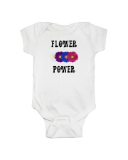 Flower Power Light Square Design Onesie thumbnail