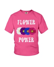 Flower Power Light Square Design Youth T-Shirt thumbnail