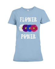 Flower Power Light Square Design Premium Fit Ladies Tee thumbnail