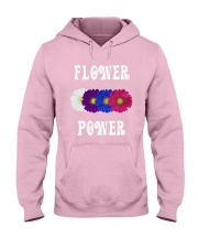 Flower Power Light Square Design Hooded Sweatshirt thumbnail