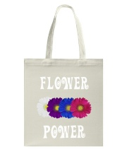 Flower Power Light Square Design Tote Bag thumbnail