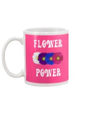 Flower Power Light Square Design Mug back