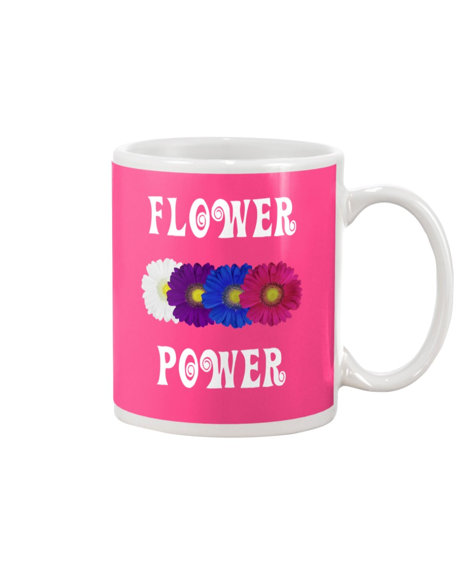 Flower Power Light Square Design Mug