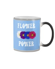 Flower Power Light Square Design Color Changing Mug thumbnail