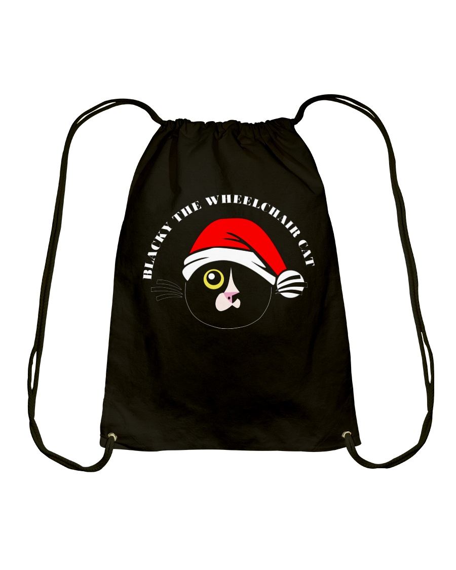 Blacky Christmas Drawstring bag Drawstring Bag