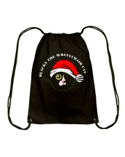 Blacky Christmas Drawstring bag Drawstring Bag front