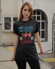 My Class Has Crushed 100 Days of School Shirt Classic T-Shirt apparel-classic-tshirt-lifestyle-19