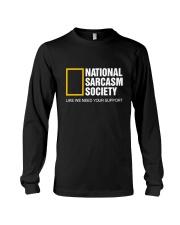 National Sarcasm Society Shirt Long Sleeve Tee thumbnail
