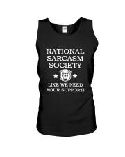 National Sarcasm Society Shirt 2018 Unisex Tank thumbnail