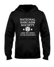 National Sarcasm Society Shirt 2018 Hooded Sweatshirt thumbnail