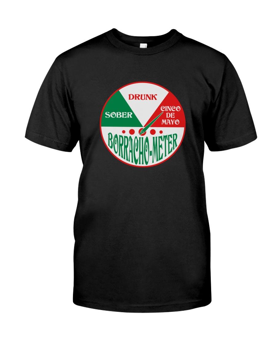 Cinco de Mayo Shirt Borracho Meter Classic T-Shirt