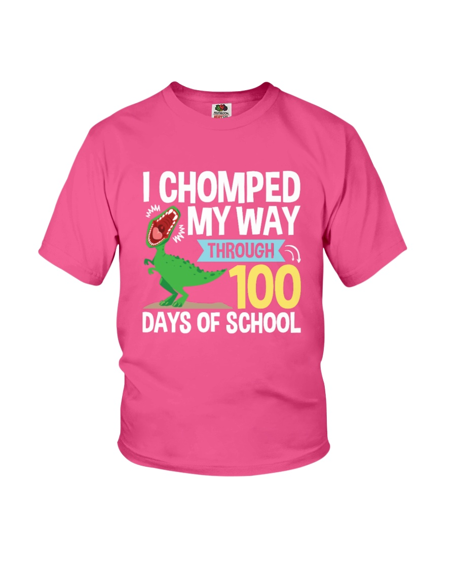 FOR KIDS - I Chomped My Way Through 100 Days Shirt Youth T-Shirt