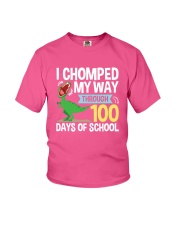 FOR KIDS - I Chomped My Way Through 100 Days Shirt Youth T-Shirt front
