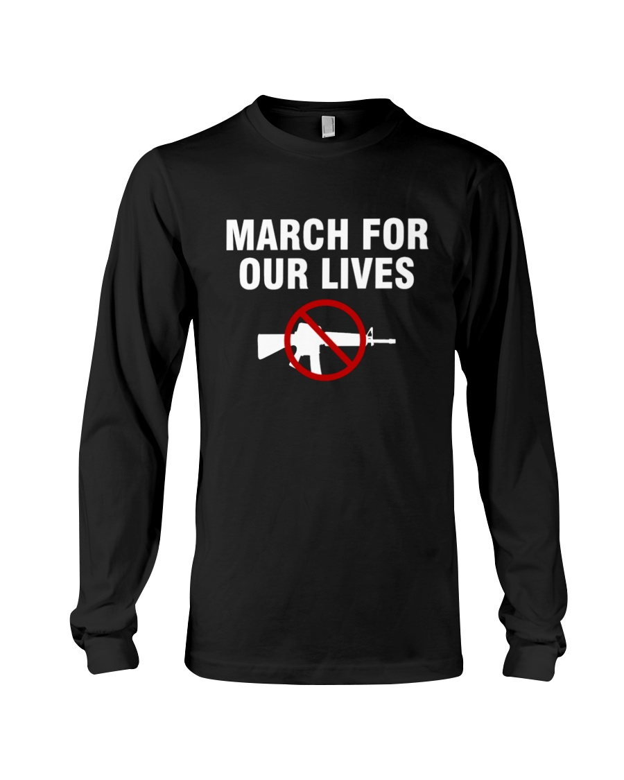 March for Our Lives Shirt No To Guns Long Sleeve Tee