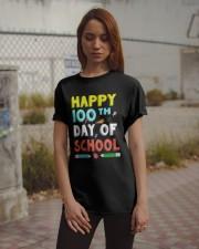 Happy 100th Day of School Shirt Classic T-Shirt apparel-classic-tshirt-lifestyle-18