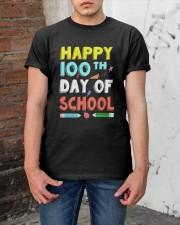 Happy 100th Day of School Shirt Classic T-Shirt apparel-classic-tshirt-lifestyle-31