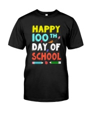 Happy 100th Day of School Shirt Classic T-Shirt front