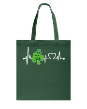 Shamrock Heartbeat Tote Bag tile