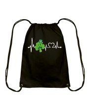 Shamrock Heartbeat Drawstring Bag thumbnail