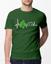 Shamrock Heartbeat Classic T-Shirt lifestyle-mens-crewneck-front-13