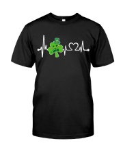 Shamrock Heartbeat Premium Fit Mens Tee tile