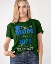 Proud Mom Of A 2021 College Graduate Classic T-Shirt apparel-classic-tshirt-lifestyle-front-100