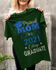 Proud Mom Of A 2021 College Graduate Classic T-Shirt apparel-classic-tshirt-lifestyle-front-117