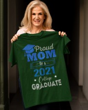 Proud Mom Of A 2021 College Graduate Classic T-Shirt apparel-classic-tshirt-lifestyle-front-118