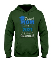 Proud Mom Of A 2021 College Graduate Hooded Sweatshirt thumbnail