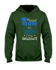 Proud Mom Of A 2021 College Graduate Hooded Sweatshirt tile