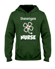 shenanigans nurse Hooded Sweatshirt front