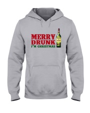 Merry Drunk I'm Christmas Hooded Sweatshirt front