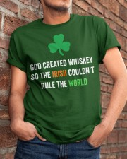 God created Whiskey so the Irish couldn't rule Classic T-Shirt apparel-classic-tshirt-lifestyle-26