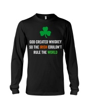 God created Whiskey so the Irish couldn't rule Long Sleeve Tee tile