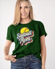 Retro Softball Mom Funny Vintage Softball Mom Classic T-Shirt apparel-classic-tshirt-lifestyle-front-100