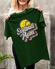 Retro Softball Mom Funny Vintage Softball Mom Classic T-Shirt apparel-classic-tshirt-lifestyle-front-117