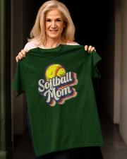 Retro Softball Mom Funny Vintage Softball Mom Classic T-Shirt apparel-classic-tshirt-lifestyle-front-118